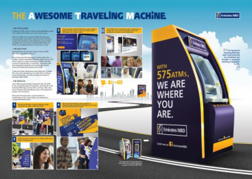 Emirates NBD: AWESOME TRAVELING MACHINE Ambient Advert by Fortune Promoseven Dubai