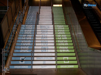 Donate Life: Transit Stairs Outdoor Advert by Pavone Harrisburg, USA