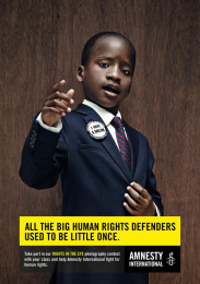 Amnesty International: Little King Print Ad by Air Brussels