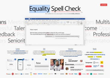 Lenovo: Equality Spell Check - Board Case study by CANJA Audio Culture, Wunderman Thompson Dubai