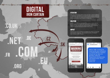O2: Digital Iron Curtain [image] Digital Advert by TRIAD Advertising Bratislava