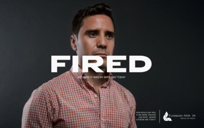 AMA 34 Foundation: Fired Print Ad by Estudio Vivo