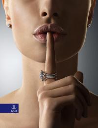 Kiev Jewellery Factory: Keep silence Print Ad by Kinograf Kiev