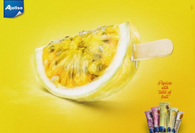 Ajellso: Passion Fruit Print Ad by Dupla Communication Vitoria