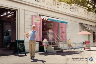 Volkswagen Trucks: Ice Cream Store Print Ad by ALMAP BBDO Brazil