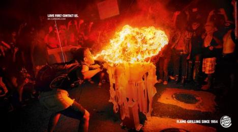Burger King: Love Fire, 2 Print Ad by Grabarz & Partner Hamburg