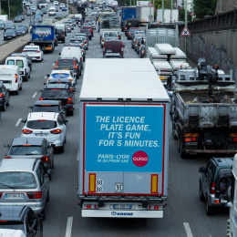 Ouigo: Traffic Jam, 8 Outdoor Advert by Partizan, Rosapark Paris, ZenithOptimedia Paris