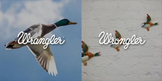 Wrangler: Wrangler vs Wrongler, 10 Print Ad by WE ARE Pi