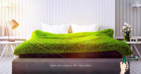 Lawn Doctor: Bed Print Ad by Sleek Machine Boston