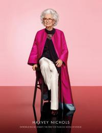 Harvey Nichols: The 100 Year Old Model Print Ad by adam&eveDDB London, UNIT Media