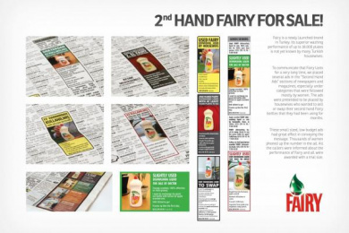 Fairy: 2ND HAND FAIRY FOR SALE Promo / PR Ad by Grey Istanbul