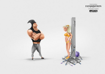 Sport Life Fitness Club: Fatquisition Print Ad by Geometry Global Kiev
