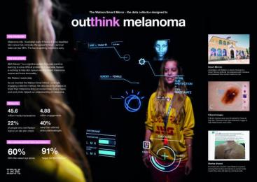 IBM Watson: Outthink Melanoma [image] 1 Digital Advert by Ogilvy & Mather Sydney