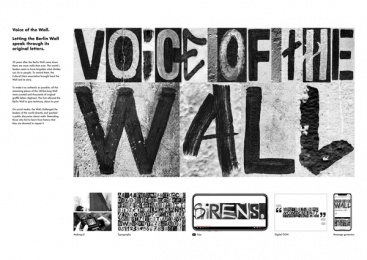 """Voice of the Wall: Cultural Heirs """"Voice of the Wall"""", 3 Print Ad by Heimat Berlin"""