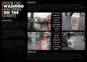 Vestel: WASHING MACHINES ON THE STREETS Ambient Advert by Saatchi & Saatchi Istanbul, Zenithmedia