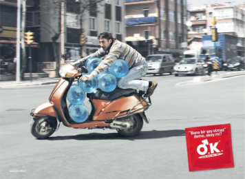O.k. Condom: WATER CARRIER Print Ad by Ultrarpm Istanbul