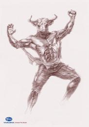Viagra: Bull Print Ad by ADCC