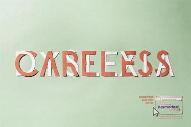 Dermodex Skin Treatment: Careless Print Ad by Fischer America Sao Paulo