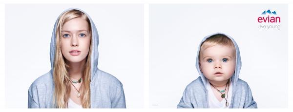 Evian: Baby Bay, Lotta Print Ad by BETC, Rita