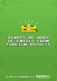 Bonkers.ie: Foreign Royalty Print Ad by The Public House