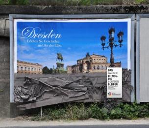 Aktion Deutschland Hilft: Dresden Ambient Advert by Heye & Partner Munich