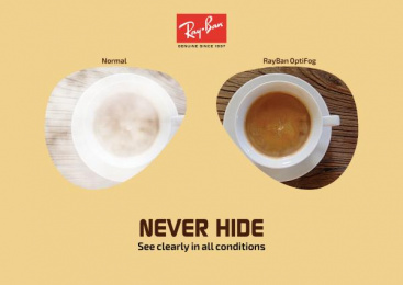 Ray-ban: Never Hide, 1 Print Ad by Art & Design Academy