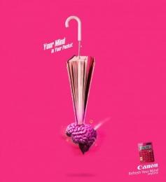 Canon: Brain Bomb Print Ad by Team collaboration
