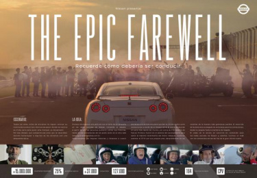 Nissan Gt-r: The epic farewell [image] Digital Advert by Lew'Lara\TBWA Sao Paulo