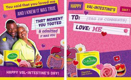 Culturelle: Val-Intestine's Day, 3 Digital Advert by Terry & Sandy