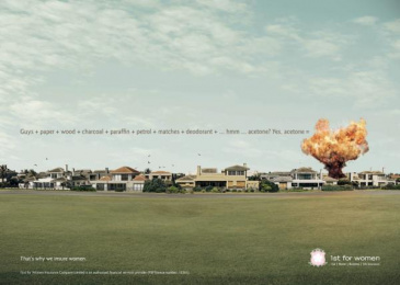 1st For Women Insurance Company: Fire Print Ad by Black River F.C. Johannesburg