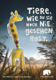 Zoo Cologne: Kids Drawings, 2 Print Ad by Preuss Und Preuss Germany