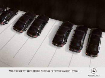 Mercedes-benz Sponsorship Of Music Festival: PIANO Print Ad by Z. Publicidade
