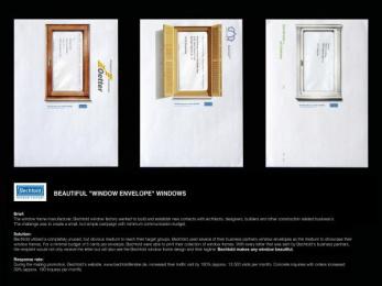 Bechtold Fenster Window Manufacturer: BEAUTIFUL WINDOW Direct marketing by Publicis Frankfurt