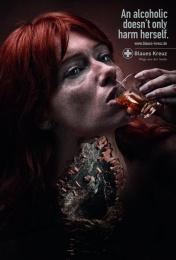 Blaues Kreuz: Woman Print Ad by BBDO Berlin