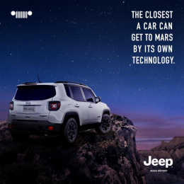 Jeep Renegade: The Closest a Car Can Get to Mars by its Own Technology Print Ad by F.biz