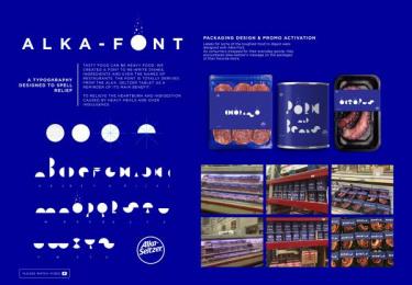 Alka-Seltzer: Alka font [image] Design & Branding by DDB Puerto Rico