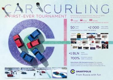 Smartpolis Insurance: Car Curling [image] Ambient Advert by RA Voskhod