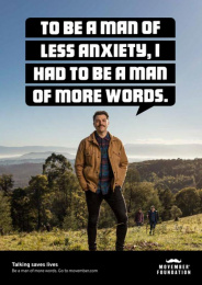 Movember: Be a Man of More Words, 2 Print Ad by Cummins & Partners Melbourne