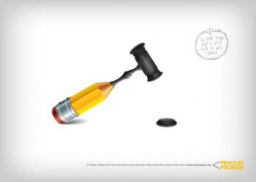 Pencils of Promise: Pencil, 3 Print Ad by Labstore, Madrid
