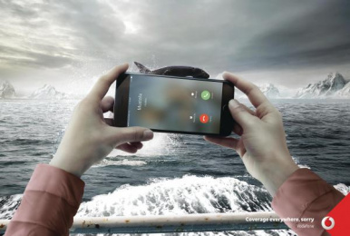 Vodafone: Sorry / Whale  [image] Print Ad by Team Red Istanbul