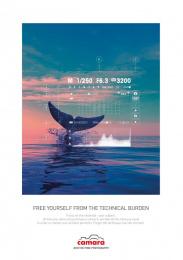 Camara: The Whale Print Ad by Change Paris