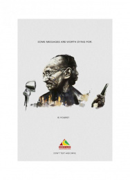 Arrive Alive: Gandhi Print Ad by Ireland/Davenport