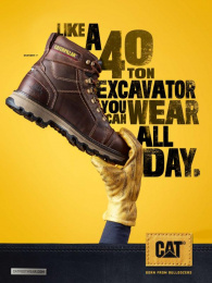 Caterpillar (CAT): A 40 Ton Excavator Print Ad by Young & Laramore