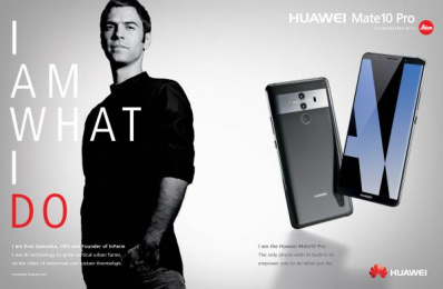 Huawei Mate10 Pro: I am What I Do, 1 Print Ad by Doner