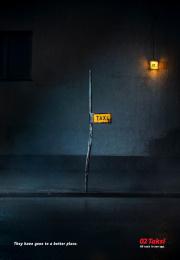 02 Taksi: Half-mast Print Ad by TBWA\ Helsinki