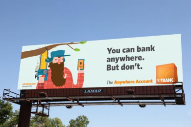 Firstbank: Lumberjack Outdoor Advert by TDA_Boulder