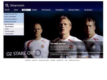 O2: O2 'Stare Out' Website Digital Advert by Archibald Ingall Stretton...
