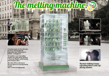 7-up: THE MELTING MACHINE Outdoor Advert by BBDO Buenos Aires
