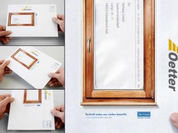 Window Frames: BEAUTIFUL ENVELOPE WINDOWS Ambient Advert by Publicis Frankfurt