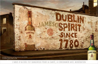 Jameson: White Wall Outdoor Advert by Being Paris